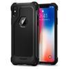 Чехол-накладка для Apple iPhone X (Spigen Rugged Armor Extra 057CS22154) (черный) - Чехол для телефонаЧехлы для мобильных телефонов<br>Защитит смартфон от грязи, пыли, брызг и других внешних воздействий.<br>