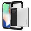 Чехол-накладка для Apple iPhone X (Spigen Slim Armor CS 057CS22158) (серебристый) - Чехол для телефонаЧехлы для мобильных телефонов<br>Удобный и компактный чехол, обеспечит защиту от негативных внешних воздействий.<br>