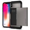 Чехол-накладка для Apple iPhone X (Spigen Slim Armor CS 057CS22156) (стальной) - Чехол для телефонаЧехлы для мобильных телефонов<br>Удобный и компактный чехол, обеспечит защиту от негативных внешних воздействий.<br>