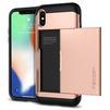 Чехол-накладка для Apple iPhone X (Spigen Slim Armor CS 057CS22157) (золотистый) - Чехол для телефонаЧехлы для мобильных телефонов<br>Удобный и компактный чехол, обеспечит защиту от негативных внешних воздействий.<br>