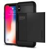 Чехол-накладка для Apple iPhone X (Spigen Slim Armor CS 057CS22155) (черный) - Чехол для телефонаЧехлы для мобильных телефонов<br>Удобный и компактный чехол, обеспечит защиту от негативных внешних воздействий.<br>