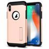 Чехол-накладка для Apple iPhone X (Spigen Slim Armor 057CS22140) (золотистый) - Чехол для телефонаЧехлы для мобильных телефонов<br>Защитит смартфон от грязи, пыли, брызг и других внешних воздействий.<br>