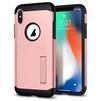 Чехол-накладка для Apple iPhone X (Spigen Slim Armor 057CS22139) (розовое золото) - Чехол для телефонаЧехлы для мобильных телефонов<br>Защитит смартфон от грязи, пыли, брызг и других внешних воздействий.<br>