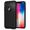 Чехол-накладка для Apple iPhone X (Spigen Slim Armor 057CS22138) (черный) - Чехол для телефонаЧехлы для мобильных телефонов<br>Защитит смартфон от грязи, пыли, брызг и других внешних воздействий.<br>