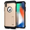 Чехол-накладка для Apple iPhone X (Spigen Slim Armor 057CS22136) (шампань) - Чехол для телефонаЧехлы для мобильных телефонов<br>Защитит смартфон от грязи, пыли, брызг и других внешних воздействий.<br>