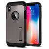 Чехол-накладка для Apple iPhone X (Spigen Tough Armor 057CS22161) (стальной) - Чехол для телефонаЧехлы для мобильных телефонов<br>Защитит смартфон от грязи, пыли, брызг и других внешних воздействий.<br>