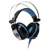 Smartbuy Rush Python (черно-синий) - Компьютерная гарнитураКомпьютерные гарнитуры<br>Полноразмерная игровая гарнитура с улучшенным воспроизведением басов, диапазон частот: 17 Гц - 20 кГц (наушники), 20 Гц-17 кГц (микрофон), динамики 50 мм, подключение 2х3.5 мм.<br>