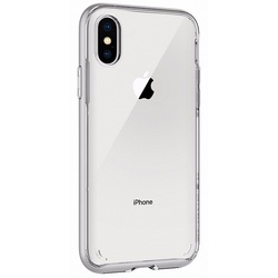Чехол-накладка для Apple iPhone X (Spigen Neo Hybrid Crystal 057CS22174) (серебристый)