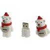 Smartbuy NY series PolarBear 16Gb (белый медведь) - USB Flash driveUSB Flash drive<br>Флэш-накопитель, объем 16Гб, тип USB 2.0.<br>