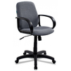 Кресло Бюрократ CH-808-LOW/GREY (серый) - Стул офисный, компьютерныйКомпьютерные кресла<br>Максимальна нагрузка - 120 кг, мягкая спина, материал крестовины - пластик, материал подлокотников - пластик.<br>