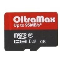 oltramax microsdhc class 10 uhs-3 95mb/s 16gb + sd adapter