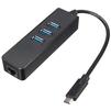 Orient JK-341 (черный) - USB HUBUSB HUB<br>USB-хаб + внешняя сетевая карта, USB порты: 3xUSB 3.0 Type-A, сетевой порт: 1xRJ45 10/100/1000 Мбит/сек, разъем кабеля USB Type-C.<br>