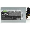 AirMax A8-400W - Блок питанияБлоки питания<br>Блок питания, 400 Вт, ATX, 24+4+6 пин, 80 мм, защита от короткого замыкания (SCP), защита от подачи пониженного и повышенного напряжения (UVP/OVP), защита от перегрузки по току (OCP), ATX 12V v.2.3, 1 вентилятор 80x80.<br>