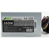 AirMax AA-350W - Блок питанияБлоки питания<br>Блок питания, 350 Вт, ATX, 24+4+6 пин, 120 мм, защита от короткого замыкания (SCP), защита от подачи пониженного и повышенного напряжения (UVP/OVP), защита от перегрузки по току (OCP), ATX 12V v.2.3, 1 вентилятор 120x120.<br>