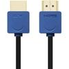 Кабель HDMI - HDMI 1.0м (Greenconnect GCR-HM530-1.0m) (синий, черный) - HDMI кабель, переходникHDMI кабели и переходники<br>Кабель с разъемами 2хHDMI, версия 1.4, бескислородная медь, AWG 32, экран, позолоченные контакты, 10.2 Гбит/с, 3D, 4K, Slim, длина 1 метр.<br>