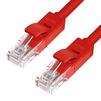 Патч-корд UTP кат. 6, RJ45 7.5м (Greenconnect GCR-LNC604-7.5m) (красный) - КабельСетевые аксессуары<br>Патч-корд прямой UTP кат.6, RJ45, позолоченные контакты, литой, CCA, 10 Гбит/с, AWG 24, длина 7.5м.<br>