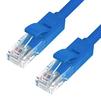 Патч-корд UTP кат. 6, RJ45 15м (Greenconnect GCR-LNC611-15.0m) (синий) - КабельСетевые аксессуары<br>Патч-корд, прямой, 15.0m, UTP, медь, категория 6, позолоченные контакты, 24 AWG, 10 Гбит/с, RJ45, T568B.<br>