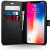 Кожаный чехол-книжка для Apple iPhone X (Spigen Wallet S 057CS22176) (черный) - Чехол для телефонаЧехлы для мобильных телефонов<br>Обеспечит надежную защиту Вашего мобильного устройства от повреждений, загрязнений и других нежелательных воздействий.<br>