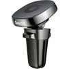 Автомобильный держатель Baseus Privity Series Pro Air outlet Magnet Bracket SUMQ-PR01 (черный)  - Автомобильный держатель для телефонаАвтомобильные держатели для мобильных телефонов<br>Автомобильный держатель для смартфонов, крепление в дефлектор, все порты и разъемы в свободном доступе, материал: кожа, пластик. Поворотный механизм: 360 градусов.<br>