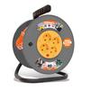 Силовой удлинитель UNIVersal ВЕМ-250 (ПВС, шнур 50м, розеток 4)  - Сетевой фильтрСетевые фильтры<br>Силовой удлинитель на катушке, количество розеток: 4 шт, максимальная нагрузка 2200 Вт, номинальная сила тока: 10 А, тип провода: ПВС, сечение провода: 3х0.75, длина кабеля: 50 м, материал: латунь, напряжение в сети: 220/250 В, частота тока: 50 Гц, условия эксплуатации: от +1 до +35 °С, при относительной влажности не более 80 %.<br>