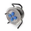 Силовой удлинитель ТМ Союз 481S-3905 (КГ, шнур 50м, розеток 4)  - Сетевой фильтрСетевые фильтры<br>Силовой удлинитель на катушке, количество розеток: 4 шт, максимальная нагрузка 3700 Вт, номинальная сила тока: 16 А, тип провода: КГ, сечение провода: 3х1.5, длина кабеля: 50 м, заземление: есть, степень защиты: IP44, материал: металл.<br>