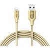 Кабель USB-Lightning 0.9м (Anker PowerLine+ A8121HB2) (золотистый) - Usb, hdmi кабель, переходникUSB-, HDMI-кабели, переходники<br>Кабель для синхронизации и зарядки устройства, разъемы: USB-Lightning. Изготовлен из высококачественных материалов. Длина кабеля 0.9 м.<br>