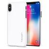 Чехол-накладка для Apple iPhone X (Spigen Thin Fit Series 057CS22112) (ультра-белый) - Чехол для телефонаЧехлы для мобильных телефонов<br>Защитит смартфон от грязи, пыли, брызг и других внешних воздействий.<br>
