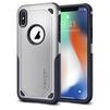 Чехол-накладка для Apple iPhone X (Spigen Hybrid Armor 057CS22352) (серебристый) - Чехол для телефонаЧехлы для мобильных телефонов<br>Удобный и компактный чехол, обеспечит защиту смартфона от нежелательных внешних воздействий.<br>