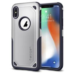 Чехол-накладка для Apple iPhone X (Spigen Hybrid Armor 057CS22352) (серебристый)