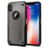 Чехол-накладка для Apple iPhone X (Spigen Hybrid Armor 057CS22350) (стальной) - Чехол для телефонаЧехлы для мобильных телефонов<br>Удобный и компактный чехол, обеспечит защиту смартфона от нежелательных внешних воздействий.<br>
