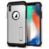 Чехол-накладка для Apple iPhone X (Spigen Slim Armor 057CS22546) (серебристый) - Чехол для телефонаЧехлы для мобильных телефонов<br>Защитит смартфон от грязи, пыли, брызг и других внешних воздействий.<br>