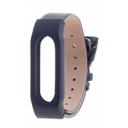 Ремешок для Xiaomi Mi Band (Xiaomi Leather Wristband tmp_800914) (черный)