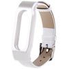 Ремешок для Xiaomi Mi Band (Xiaomi Leather Wristband tmp_800916) (серебристый/белый) - Ремешок для умных часовРемешки для умных часов<br>Ремешок разработан и произведен специального для данной модели. Конструкция надежно удерживает гаджет, оснащена качественной застежкой.<br>