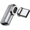 Переходник USB Type C-USB Type C (Baseus Mini Magnetic Type-C Elbow Adapter Converter CATCX-0G) (серый) - Usb, hdmi кабель, переходникUSB-, HDMI-кабели, переходники<br>Представляет собой компактный и удобный переходник USB-C с магнитным принципом соединения. Он идеально подойдет для синхронизации и зарядки совместимой техники. Составная конструкция коннектора позволяет оставлять штекер в разъеме ноутбука или коммуникатора, защитив его от пыли и грязи, а также упростив процесс подключения. Адаптер обеспечивает зарядку совместимых устройств с силой тока 4.3 А и мощностью 86 Вт.<br>