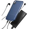 Чехол-накладка для Apple iPhone X (Baseus Audio WIAPIPHX-VI15) (темно-синий) - Чехол для телефонаЧехлы для мобильных телефонов<br>Baseus Audio WIAPIPHX-VI15 обеспечивает качественную защиту смартфона от загрязнений и механических повреждений, а также позволяет подключать к коммуникатору сразу два кабеля Lightning. Это позволит вам одновременно слушать музыку и заряжать телефон либо передавать данные на ноутбук.<br>
