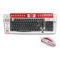 Thermaltake Xaser III Keyboard and Mouse A1806 Silver USB+PS/2
