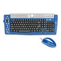 Thermaltake Xaser III Keyboard and Mouse A1807 Blue USB+PS/2