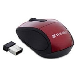 verbatim wireless mini travel mouse red usb