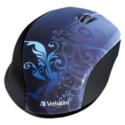 verbatim wireless optical design mouse blue usb