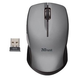 trust hyperwheel wireless mouse grey-black usb