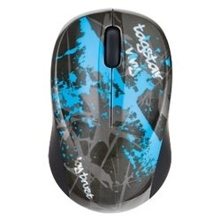trust vivy wireless mini mouse blue graffiti black-blue usb