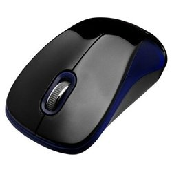 oklick 355mw wireless optical mouse usb (черный/синий)