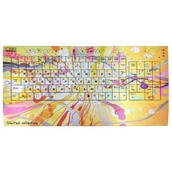 CBR Picture Keyboard Splashes Yellow-Pink USB (розово-желтый)