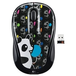 logitech wireless mouse m325 panda candy black usb (черный)