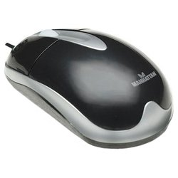 manhattan mh3 classic optical desktop mouse 177016 black usb