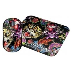 ��������� ed hardy wired mouse+pad full color black usb