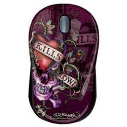 ed hardy wired mouse love kills slowly black usb