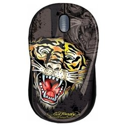 ed hardy wired mouse tiger black usb