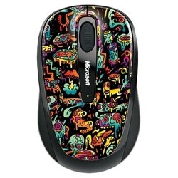 microsoft wireless mobile mouse 3500 artist edition sally zou red-black usb