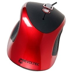 revoltec wired mouse w101 red usb